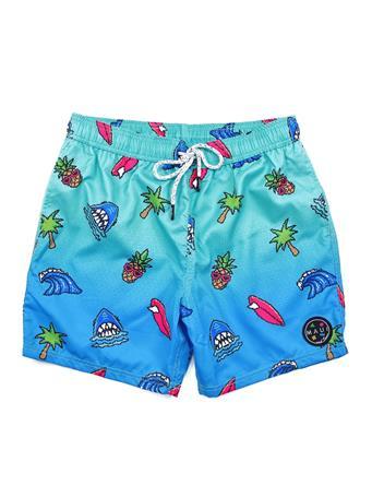 MAUI AND SONS - Pool Short Pineapple Shark LGHT BLUE