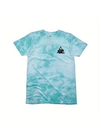 MAUI AND SONS - Logo Tie Dye Tee ARUBA BLUE