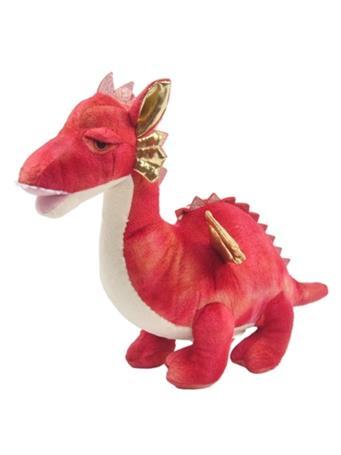 LINZY TOYS - Red Dragon Plush Coin Bank NO COLOR
