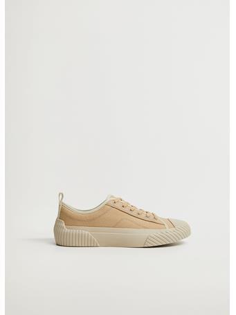 MANGO - Organic Cotton Sneakers LT PASTEL BROWN
