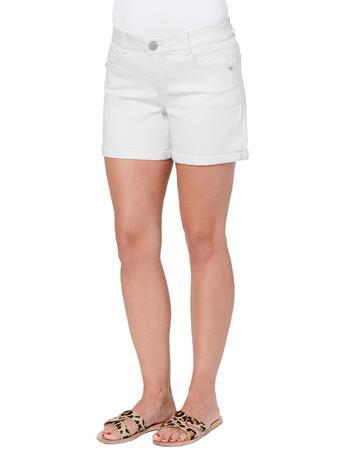 "DEMOCRACY - ""Ab""solution 5"" White Denim Shorts OPTIC WHITE"