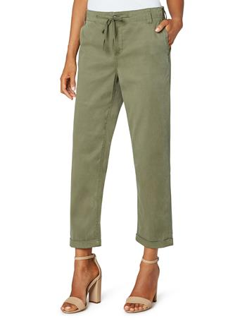 LIVERPOOL JEANS - Utility Pant With Drawstring OLIVE MOSS