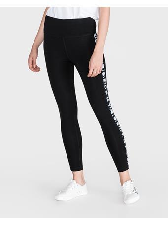 DKNY -  High waist 7/8 legging with two tone logo BLACK
