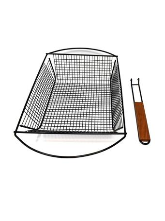 NORPRO - Nonstick Deluxe Grill Basket With Removable Handle BLACK