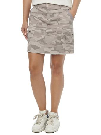 """DEMOCRACY - """"Ab""""solution Cargo Patch Pocket A-Line Camouflage Skirt DUSTY LAVENDER"""