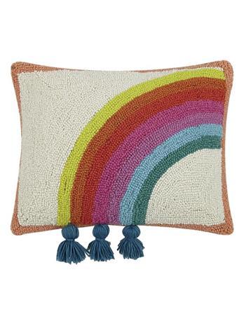 JUSTINA BLAKENEY - Decorative Rainbow Pillow With Tassels RAINBOW