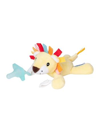 DR. BROWN'S - Lovey Pacifier and Teether Holder, 0m+, Lion With Teal Pacifier No Color