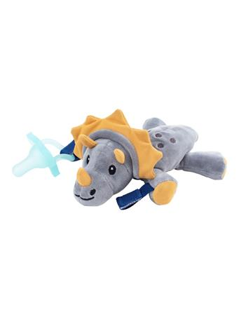 DR. BROWN'S - Lovey Pacifier and Teether Holder, 0-6m, Triceratops With Teal Pacifier No Color