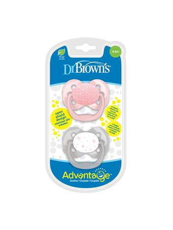DR. BROWN'S - 2 Pack Advantage Pacifier 0-6 Pink No Color