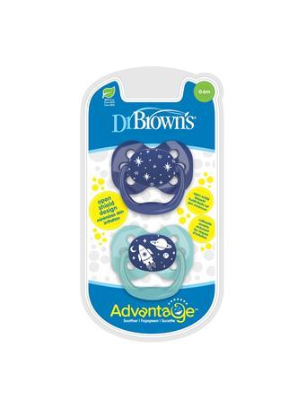 DR. BROWN'S - 2 Pack Advantage Pacifier 0-6 Blue No Color