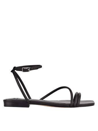 MARC FISHER - Mariella Strappy Flat Sandal BLACK