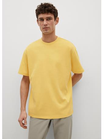 MANGO - Relaxed Fit Technical T-shirt VANILLA