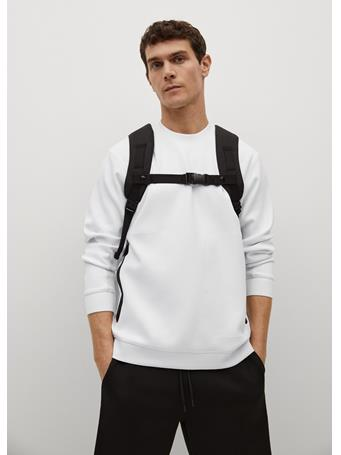MANGO - Technical Sweatshirt With Zipper WHITE