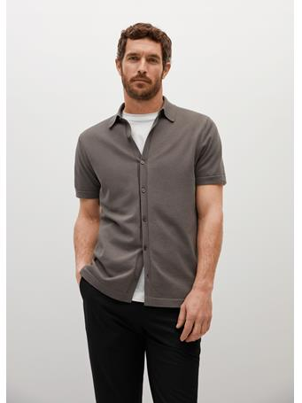 MANGO - Regular-fit Knit Shirt KHAKI