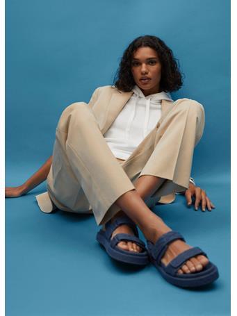MANGO - Denim Cotton Sandals MEDIUM BLUE