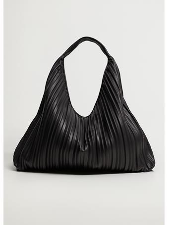 MANGO - Pleated Bucket Bag BLACK