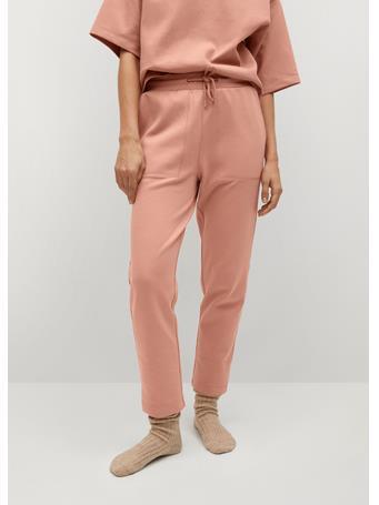 MANGO - Cotton Organic Jogging Trousers LT PINK