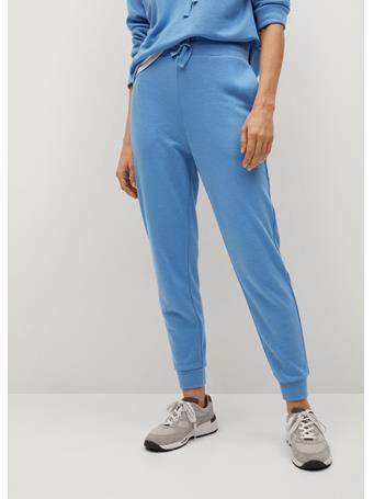 MANGO - Knit Jogger-style Trousers MEDIUM BLUE