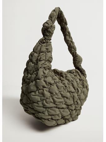 MANGO - Quilted Maxi Bag KHAKI