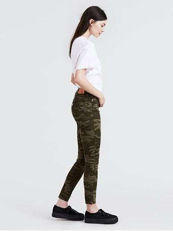 LEVI'S - Camo Print 711 Skinny Ankle Women's Jeans CAMO