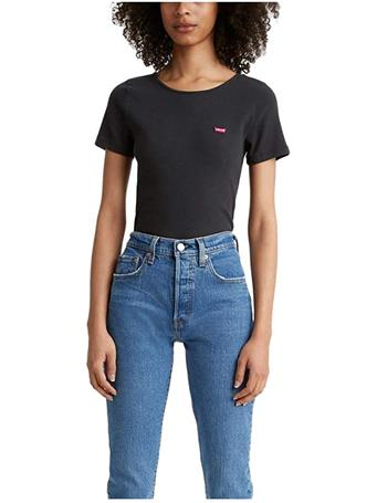 LEVI'S - Women's Honey Short Sleeve T-shirt CAVIAR
