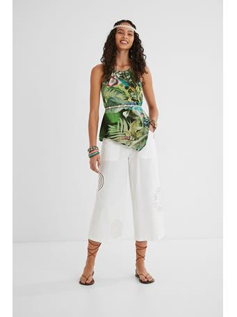 DESIGUAL - Halter Neck Blouse GREEN