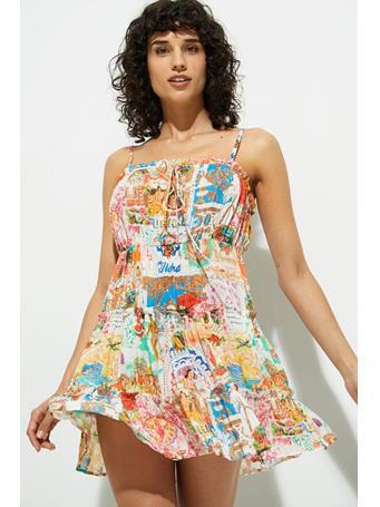 DESIGUAL - Short Hawaiian Lurex Dress WHITE