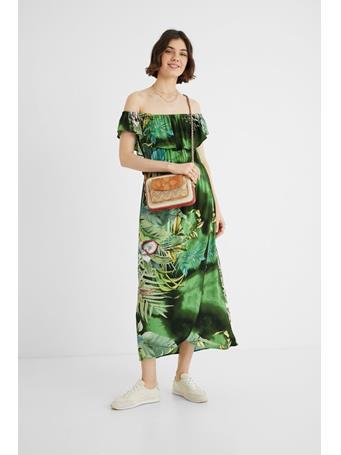 DESIGUAL - Long Straples Tuscon Dress GREEN