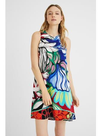 DESIGUAL - Short Loose - Fitting Dress Orleans MEDIUM RED