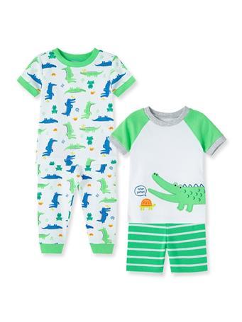 LITTLE ME- Alligator Pajama Set GREEN