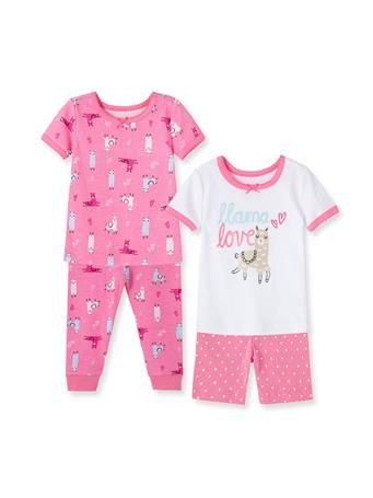 LITTLE ME- Llama Pajama Set PINK