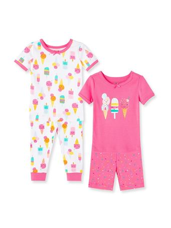 LITTLE ME- Ice Cream Pajama Set PINK