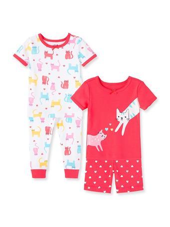 LITTLE ME- Kitty Toddler Pajama Set MULTI