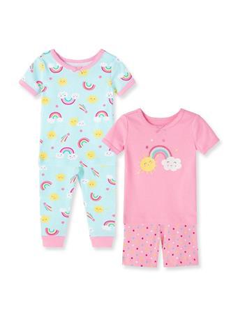 LITTLE ME- Rainbow Pajama Set MULTI