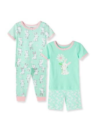 LITTLE ME- Bunny Pajama Set AQUA