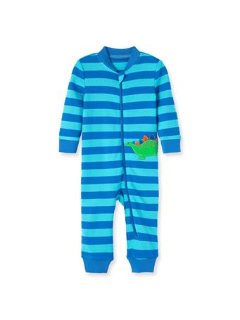 LITTLE ME- Dino Zip Front One-Piece BLUE