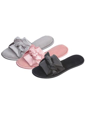 ROXONI - Open Satin Slipper BLACK