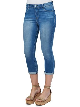 """DEMOCRACY - Modern """"Ab""""solution High Rise Crop Luxe Jeans LIGHT BLUE"""