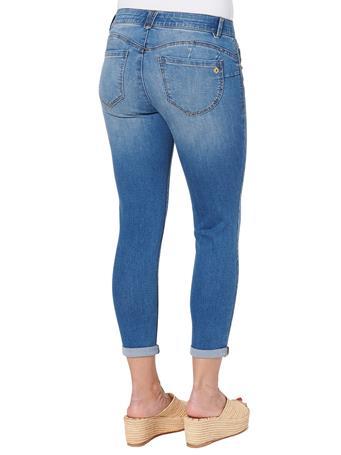 "DEMOCRACY - ""Ab""solution Blue Denim Plus Ankle Skimmer Jeans BLUE"