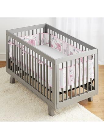 BREATHABLE BABY - Classic Breathable Mesh Crib Liner - Safari Fun Girl NO COLOR