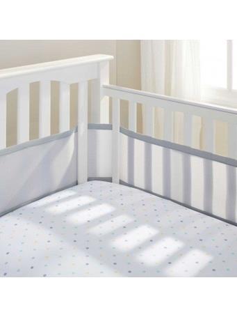 BREATHABLE BABY - Classic Breathable Mesh Crib Liner - Grey NO COLOR