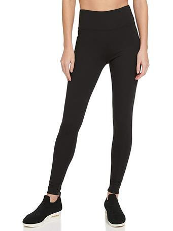 DKNY - Full length basic high waist legging BLACK