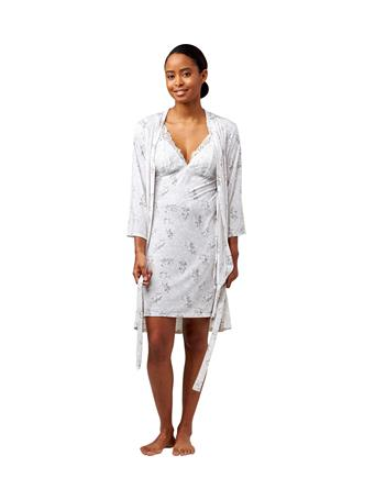 BODY TOUCH - 2 Piece Robe and Gown Set PNK/GRY