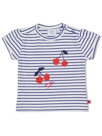 FEETJE - CHERRY SWEETNESS Stripe Short Sleeve Top MARINE BLUE