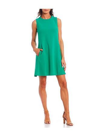 DONNA MORGAN - Sleeveless Mini Shift Dress BRIGHT JADE