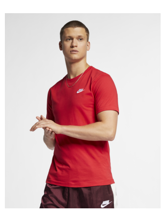 NIKE - Sportswear Club Men's T-Shirt RED