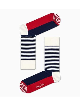 HAPPY SOCKS - Half Stripe Sock MULTI