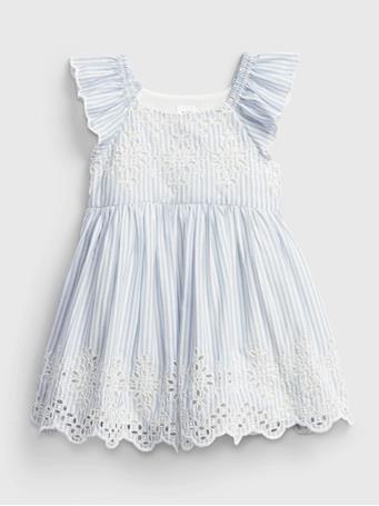 GAP - Baby Eyelet Dress BRIGHT HYACINTH