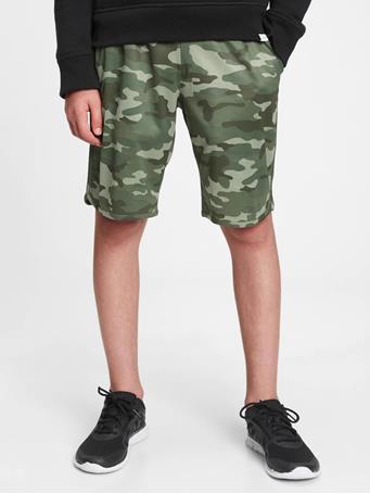 GAP - GapFit Kids Mesh Pull-On Shorts GREEN CAMO