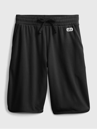 GAP - GapFit Kids Mesh Pull-On Shorts TRUE BLACK